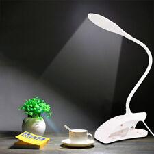 Desk LED Lamp USB Charging Portable Eye-care Lamp Clip Bedroom Reading Light USA