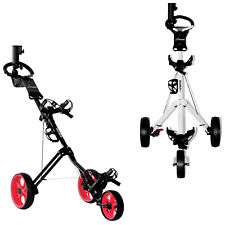 Big Max X-Treme Rider 3-Wheel Golf Trolley Compact Quick Folding Push Cart