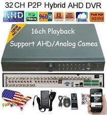 32Ch AHD Hybrid CCTV DVR 1080N NVR Video Recorder for IP/AHD/Analog Camera