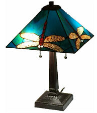 """Tiffany Style Stained Glass Lamp """"Dragonfly"""" - FREE SHIP IN USA"""