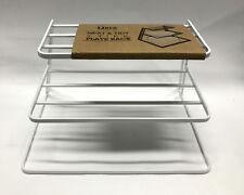 New 3 Tier White Neat & Tidy  Plate Rack Kitchen Plates Organiser Storage Rack