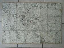 CARTE 1773 DES ENVIRONS DE PARIS (77 X 52 cm)