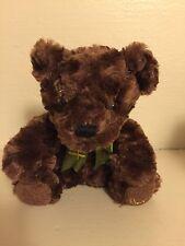 "Harrods Knight Bridge 11"" Fuzzy Teddy Bear Stuffed / Dark Brown"