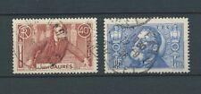 JEAN JAURÈS - 1936 YT 318 à 319 - TIMBRES OBL. / USED