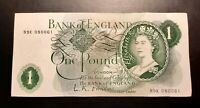 1960's 1970's -  BANK OF ENGLAND - One Pound  £1 Note-  No. 89K 080061 - O'Brien