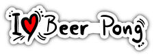 "I Love Beer Pong Car Bumper Sticker Decal 8"" x 3"""