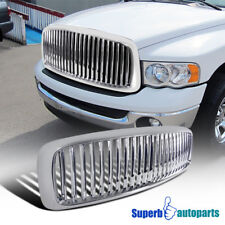 2002-2005 Dodge Ram 1500 2500 3500 ABS Vertical Front Hood Grille Chrome