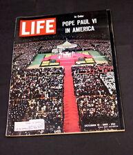 POPE PAUL VI AT YANKEE STADIUM OCTOBER 15 TH 1965 LIFE MAGAZINE