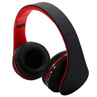 Foldable Wireless Bluetooth Headset Stereo Headphone FM Radio Earphone Handsfree