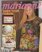 Les idées de Marianne N°6 Avril 1995 point de croix , tricot