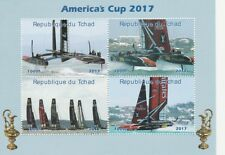 Chad 6847 - 2017 AMERICA's CUP  perf sheetlet   unmounted mint