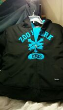 ZOO YORK-- sz XL ( 20 ) BOYS HOODIE - FLEECE LINED- BLACK- ZIPPER- NWT