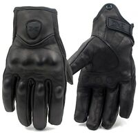 2021 Retro Real Leather Motorcycle Gloves Moto Waterproof Gloves Motorbike Glove