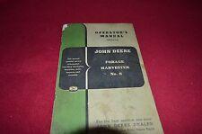 John Deere 8 Forage Harvester Operator's Manual BVPA