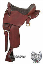 "Trekker Leather Endurance Saddle No Horn (Black or Brown) (15.5"",16.5"" OR 17.5"")"