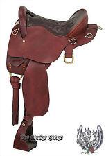 """Trekker Leather Endurance Saddle No Horn (Black or Brown) (15.5"""",16.5"""" Or 17.5"""")"""