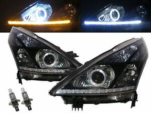 Maxima J32 MK2 09-13 Guide LED Angel-Eye Projector Headlight BK for NISSAN LHD