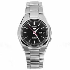 SNK607K1 SNK607 Seiko 5 Automatic Black Dial 21 Jewels Stainless Steel Watches