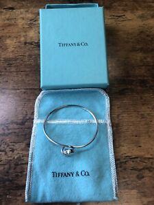 Tiffany & Co Sterling Silver & 18K Gold Double Heart Hook Bracelet