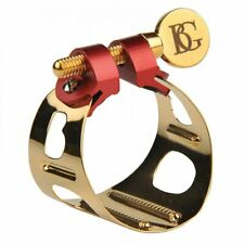 More details for bg france duo metal ligature & cap gold lacquer for soprano, alto or tenor d