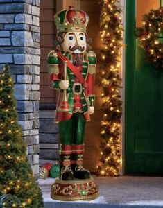6' ft. Holiday Nutcracker  Indoor / Outdoor Resin Decor. w LED lights / Music
