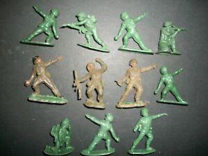 Lot of WW2 54mm plastic figures made in Hong Kong, copies of Herald