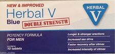 10 Herbal v Blue Male Sex Tabs Strong Supplement For Men 100mg Exp 01/2021