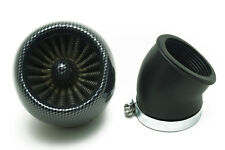 Universal 48mm Mushroom Carbon Fibre Intake Air Filter Pod Quad Dirt Bike ATV