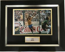 ZICO HAND SIGNED BRAZIL AUTOGRAPH FRAMED PHOTO DISPLAY 2.
