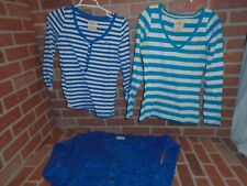 HOLLISTER WOMANS CARDIGAN BUTTON SWEATER & 2 LONGSLEEVE TSHIRTS LOT OF 3