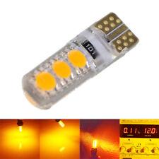 2PCS T10 192 194 168 W5W 5050 6SMD SILICA Car LED Light Bulbs Amber Orange 12V