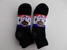 Joes Sports Gear Made In USA Mens Premium Black Quarter Socks Size 10-13 6 Pairs