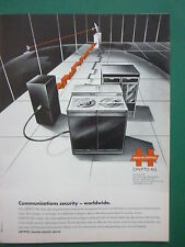 4/90 PUB CRYPTO AG HAGELIN DATA MULTICHANNEL CIPHERING SECURITY TRANSMISSIONS AD