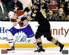 Kevan Miller Boston Bruins Signed Autographed Fight vs Canadiens Moen 8x10