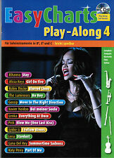 Bläser in Bb, Es und C Noten : EASY CHARTS 4 - mit CD playalong - leMittel