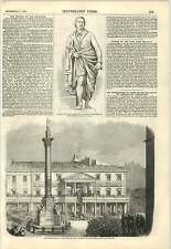 1857 Inauguration Rome Column Immaculate Conception Statue Lord Melville