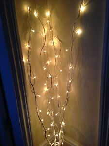 Decorative Natural Branch/Twig Lights+50 White Lights/1. 2Metre