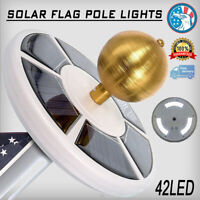 42 LED Solar Powered Flag pole Night Light Outdoor Camping Lamp Super Bright US
