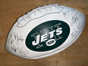 New York Jets 2010 NFL Team Signed Full Size Football With Replica Autographs 🏈