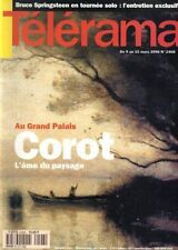 telerama n°2408 corot maritie & gilbert carpentier ava gardner bruce springsteen