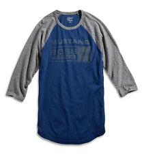 Lucky Brand - Mens M - NWT - Blue Ford Mustang Boss 429 Baseball Sleeve T-Shirt