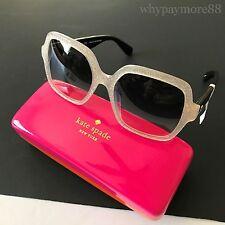 Kate Spade NY KATELEE/S 0S2V Opal Glitz Black Square Oversized Sunglasses NWT