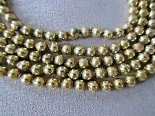 "Vintage Christmas Tree Garland Mercury Glass Beads 96"" Feather Tree Nice!"