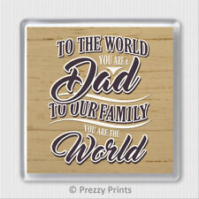 Fathers Day Drinks Coaster Gift For Dad You Are The World Cup Mat