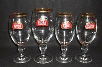 Set of (4) STELLA ARTOIS Beer Chalices Made in Belgium NEW Condition!