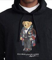 NWT POLO RALPH LAUREN Men's XXL 2XL Holiday Bear Cotton T-shirt Pullover Hoodie