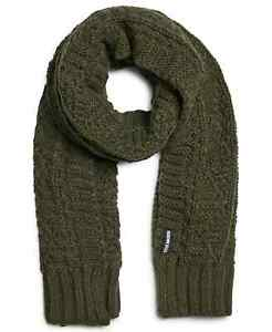 Steve Madden Men's Cable Knit Scarf Green-One Size
