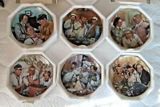 The Three Stooges Franklin Mint Limited Edition Collector's Plates Set of 6
