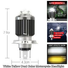 H4 9003 HB2 LED Bulb Hi/Lo Beam HID White Yellow Motorcycle Bikes Headlight Lamp