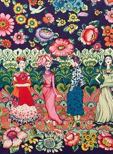 ALEXANDER HENRY COTTON FABRIC-FRIDA LA CATRINA-MEXICAN ARTIST FRIDA KAHLO-MARINE